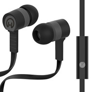 HyperGear Low Ryder Earphones with Mic - Black Grey