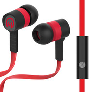HyperGear Low Ryder Earphones with Mic - Black Red