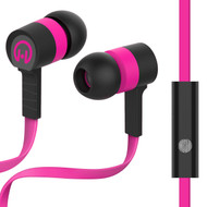 HyperGear Low Ryder Earphones with Mic - Black Pink