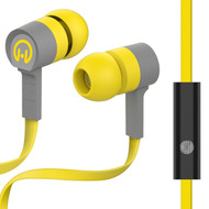 HyperGear Low Ryder Earphones with Mic - Yellow Grey