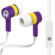 HyperGear Low Ryder Earphones with Mic - White Purple Yellow