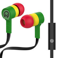 HyperGear Low Ryder Earphones with Mic - Green Yellow Red