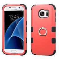 Military Grade TUFF Hybrid Armor Case with Ring Holder for Samsung Galaxy S7 - Red