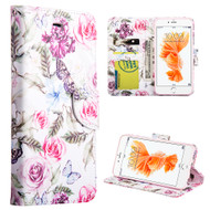 Executive Graphic Leather Wallet Case for iPhone 6 Plus / 6S Plus - Rosy Aroma