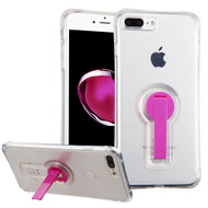 *SALE* Shockproof Transparent Case with Stand for iPhone 7 Plus - Hot Pink