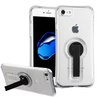 Shockproof Transparent Case with Stand for iPhone 7 - Black