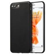 Premium TPU Case with Camera Lens Protector for iPhone 8 Plus / 7 Plus - Black
