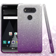 Full Glitter Hybrid Protective Case for LG V20 - Gradient Purple
