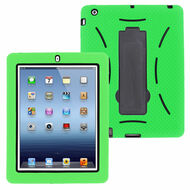 Impact Armor Kickstand Hybrid Case for iPad 2, iPad 3 and iPad 4th Generation - Green