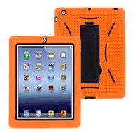 Impact Armor Kickstand Hybrid Case with Integrated Screen Protector for iPad 2, iPad 3 and iPad 4th Generation - Orange