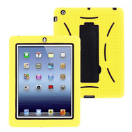 Impact Armor Kickstand Hybrid Case with Integrated Screen Protector for iPad 2, iPad 3 and iPad 4th Generation - Yellow