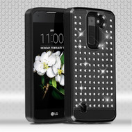 Luxury Bling Diamond Hybrid Case for LG K7 / Escape 3 / Treasure LTE / Tribute 5 - Black