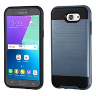 Brushed Hybrid Armor Case for Samsung Galaxy J3 (2017) / J3 Emerge / J3 Prime / Amp Prime 2 / Sol 2 - Ink Blue