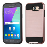 Brushed Hybrid Armor Case for Samsung Galaxy J3 (2017) / J3 Emerge / J3 Prime / Amp Prime 2 / Sol 2 - Rose Gold
