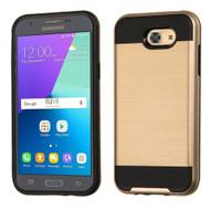 Brushed Hybrid Armor Case for Samsung Galaxy J3 (2017) / J3 Emerge / J3 Prime / Amp Prime 2 / Sol 2 - Gold