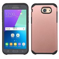 Hybrid Multi-Layer Armor Case for Samsung Galaxy J3 (2017) / J3 Emerge / J3 Prime / Amp Prime 2 / Sol 2 - Rose Gold