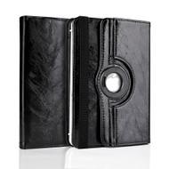 Universal 360 Degree Rotating Leather Portfolio Kickstand Case - Black