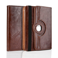 Universal 360 Degree Rotating Leather Portfolio Kickstand Case - Brown