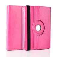 Universal 360 Degree Rotating Leather Portfolio Kickstand Case - Hot Pink