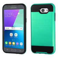 Brushed Hybrid Armor Case for Samsung Galaxy J3 (2017) / J3 Emerge / J3 Prime / Amp Prime 2 / Sol 2 - Teal Green