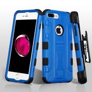 Military Grade TUFF Galactic Hybrid Armor Kickstand Case with Holster for iPhone 8 Plus / 7 Plus - Blue