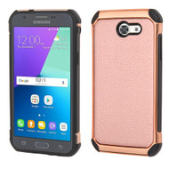 Tough Leather Case for Samsung Galaxy J3 (2017) / J3 Emerge / J3 Prime / Amp Prime 2 / Sol 2 - Rose Gold
