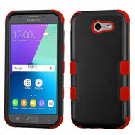 *SALE* Military Grade TUFF Case for Samsung Galaxy J3 (2017) / J3 Emerge / J3 Prime / Amp Prime 2 / Sol 2 - Black Red