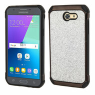 Tough Glitter Hybrid Case for Samsung Galaxy J3 (2017) / J3 Emerge / J3 Prime / Amp Prime 2 / Sol 2 - Silver