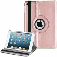 360 Degree Smart Rotating Leather Case for iPad Mini 4 - Rose Gold