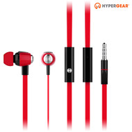 HyperGear dBm Wave 3.5mm Stereo Earphones with Mic - Red