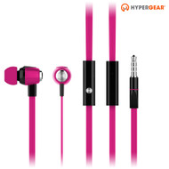 HyperGear dBm Wave 3.5mm Stereo Earphones with Mic - Hot Pink