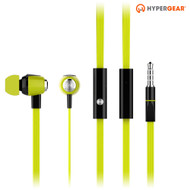 HyperGear dBm Wave 3.5mm Stereo Earphones with Mic - Green