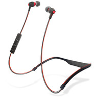HyperGear Flex Bluetooth Wireless Noise Isolating Sports Headphones - Black Red