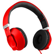 HyperGear V30 Stereo Headphones with Microphone - Red