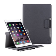 Premium 360 Degree Smart Rotating Case and Stylus Pen for iPad Air 2 - Black