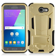 Transformer Hybrid Armor Case for Samsung Galaxy J3 (2017) / J3 Emerge / J3 Prime / Amp Prime 2 / Sol 2 - Gold