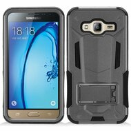 Transformer Hybrid Armor Case with Stand for Samsung Galaxy Amp Prime / Express Prime / J3 / Sol - Grey