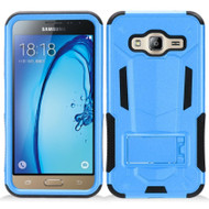 Transformer Hybrid Armor Case with Stand for Samsung Galaxy Amp Prime / Express Prime / J3 / Sol - Blue