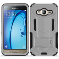 Transformer Hybrid Armor Case with Stand for Samsung Galaxy Amp Prime / Express Prime / J3 / Sol - Silver