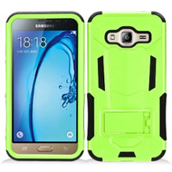 Transformer Hybrid Armor Case with Stand for Samsung Galaxy Amp Prime / Express Prime / J3 / Sol - Green
