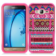Transformer Hybrid Armor Case with Stand for Samsung Galaxy Amp Prime / Express Prime / J3 / Sol - Tribal