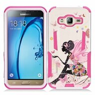 Transformer Hybrid Armor Case with Stand for Samsung Galaxy Amp Prime / Express Prime / J3 / Sol - Fairy