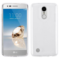 Rubberized Crystal Case for LG Aristo / Fortune / K8 2017 / Phoenix 3 - Clear