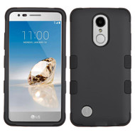 Military Grade TUFF Hybrid Armor Case for LG Aristo / Fortune / K8 2017 / Phoenix 3 - Black