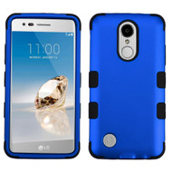 Military Grade TUFF Hybrid Armor Case for LG Aristo / Fortune / K8 2017 / Phoenix 3 - Blue