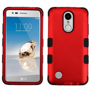 Military Grade TUFF Hybrid Armor Case for LG Aristo / Fortune / K8 2017 / Phoenix 3 - Red