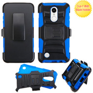 Advanced Armor Hybrid Kickstand Case with Holster for LG Aristo / Fortune / K8 2017 / Phoenix 3 - Black Blue