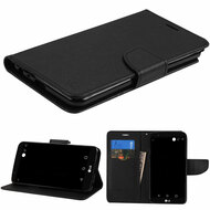 Diary Leather Wallet Case for LG Stylo 3 / Stylo 3 Plus - Black