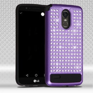 Luxury Bling Diamond Hybrid Case for LG Stylo 3 / Stylo 3 Plus - Purple