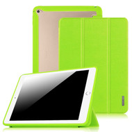 *Sale* Tri-Fold Smart Leather Cover with Hybrid Transparent Hard Back Shell Case for iPad Air 2 - Green